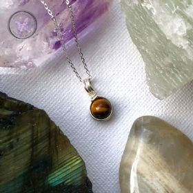 Golden Tiger Eye Sterling Silver Wire Wrapped Pendant